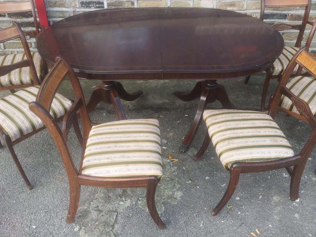 Dining table6chairs in dark wood 16365 in Bradford West  : 86 from www.gumtree.com size 1024 x 768 jpeg 142kB