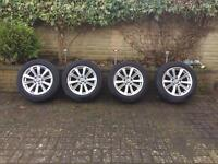 Set 4 Genuine BMW 17 5 series 6 Alloy Wheel rim 225 55 Tyres F10 F11