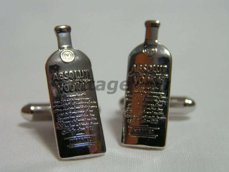 ABSOLUT VODKA CUFFLINKS > GREAT FOR GIFT BRAND NEW
