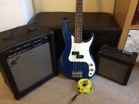 Cruiser by Crafter Bass Guitar with Kustom KGA 10 Amp and Gear4Music 35B Amp