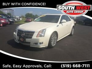 2011 Cadillac CTS 3.6L, ALL WHEEL DRIVE, ROOF/LEATHER/BACK-UP CA