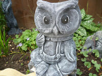 owl planter garden ornament
