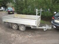 10-2 X 5-6 TWIN AXLE 2600KG ALLOY DROP SIDES FLATBED TRAILER....