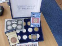 various coins etc