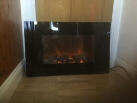 Beldray wall-mounted log effect electric heater