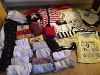Baby boy 3-6month bundle vests, sleepsuits, tops