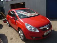 Vauxhall CORSA Energy CDTI,stunning flame red 3 dr hatchback,full MOT,runs and drives as new,22k