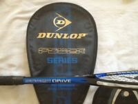 Dunlop Squash racket and cover