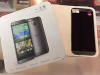 HTC one (m8) silver, unlocked to any network, 16gb