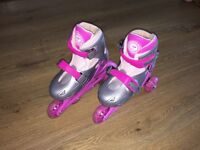 Dunlop Pink Skates size 12 to 2 in very good condition (Guildford/Ash)