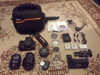 Canon 550D DSLR with 2 Lenses and many Accessories