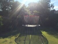 12 foot trampoline and safety enclosure
