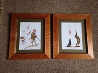 Pair of Framed Shooting Pictures