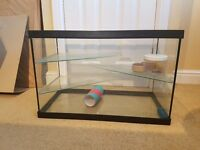 Glass Gerbil/ Hamster Cage