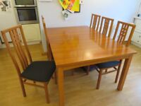 Extending Dining Table and 8 Chairs