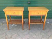 Vintage 1960s Vanson bedside side tables walnut teak mid century retro