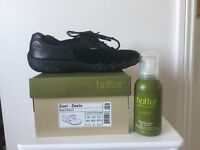 New - Black leather/ Suede Hotter shoes size 4.5