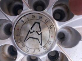 6 spoke alloy wheels