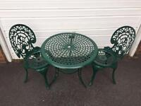 Green patio set (delivery available)