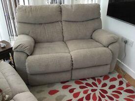 Light grey fabric sofa