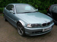 52 PLATE BMW 325 COUPE FULL LEATHER TRIM 19 INCH ALLOYS NEW TYRES NEW BRAKES WATERPUMP £2695