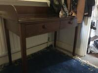 Antique wooden sideboard table