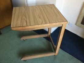 Vintage over bed and chair table