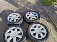 Cheap R16 alloys wheels with tires 5x112!