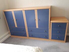 Wardrobe and drawer set