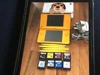 DS XL yellow with 8 games charger and case Sold pending Payment