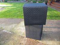 Rattan garden 'stools'