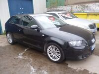 Black Audi A3 Sport,3 door hatchback,full MOT,FSH,clean tidy car,runs and drives nicely,only 53,000