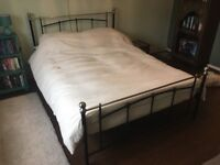 Brand new double bed frame, with new mattress and new bedding optional