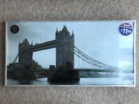 BRAND NEW LUXURY GLITTER PRINT LONDON BRIDGE PICTURE