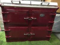 Stunning Red Everhot 110 Range cooker large oven 1 year old Inc Vat appliance