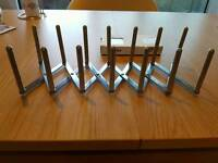 NEW Ikea VARIERA pans and lids organiser stainless steel