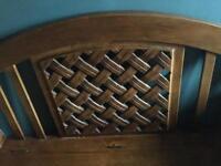 Mahogany Dark Wood Monks Chair