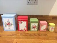 Cath Kidston Storage Tins x5