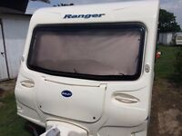 BAILEY RANGER 6-6 BIRTH FREE AWNING/ANNEX/NEW MOTOR MOVER/WASTE/FRESH/GAS/LEAD/PLATES/CUTLERY/STEP
