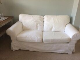 Ikea 2 seater sofa white covers good condition