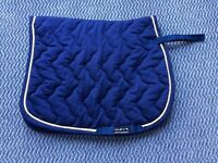 Navy & Yellow Saddle Cloth (Full size)