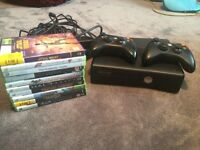 Xbox 360 Kinect for sale, 2 controllers, all the cables and 10 games