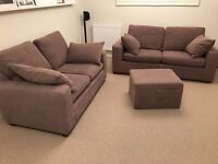 NEXT 2 & 3 Seater sofa with matching footstool.