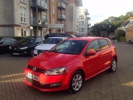 2013 VOLKSWAGEN POLO MATCH EDITION RED 11,000 MILES ONLY WITH FULL VW HISTORY EXCELLENT CONDITION