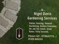 Nigel Davis Gardening Services - Fencing, Drives, Patios, Digger Hire
