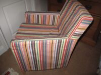 Lovely striped Ikea armchair