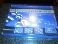 NEW AND SEALED 94 PC SOCKET SET