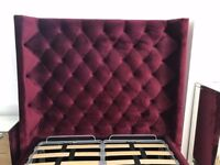 Designer Upholstered Storage Bed With Tall HeadBoard