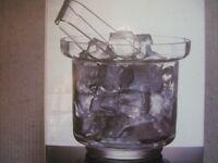 Dartington 'Shuggy Bar' Ice Bucket and Tongs (new)