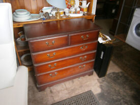 CHEST OF DRAWERS MAHOGANY FINISH MODERN CHEST OF DRAWERS IN TRADITIONAL STYLE IN YEOVIL